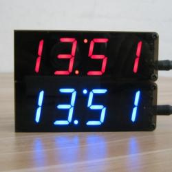 USB 5V Fyra Digitala DIY Klocksats Två Larmfunktion