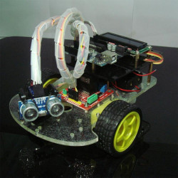 Ultrasonic Ranging Obstacle Avoidance Smart Car Kit With LCD Display Infrared Control For Arduino