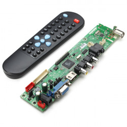 V29 Universal LCD Kontrollerkort TV Moderkort Gratis Programversion