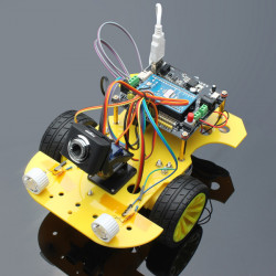 WiFi Smart Robot Bil Kit Trådlös Video Smart Bil för Arduino