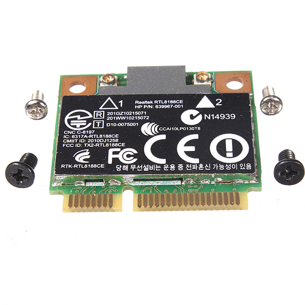Wireless WiFi-kort 640926-001 639967-001 RTL8188CE for HP Arduino SCM & 3D-printer