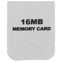 16 MB Memory Card White For Nintendo Wii & Gamecube