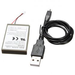 2000mAh PS4 Dubbel Chock 4 Kontroll Batteri + Charge USB-kabel