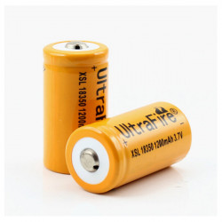 2pcs UltraFire XSL 18350 3.7V 1200mAh Li-ion Rechargeable Battery
