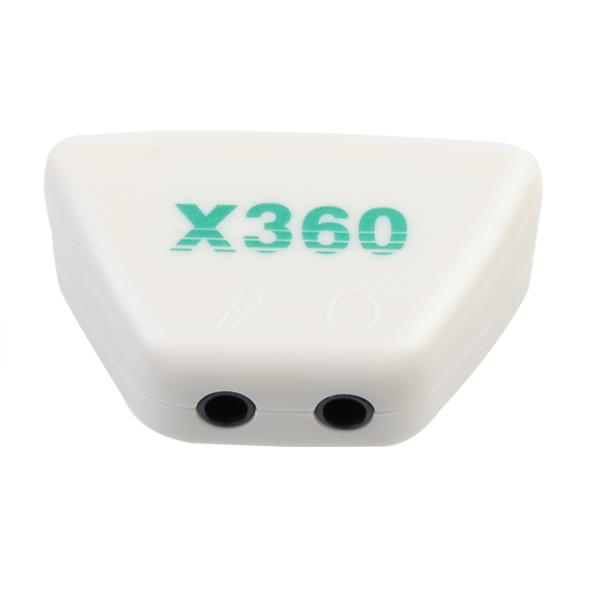 3.5mm Mic Öronsnäcka Adapter Omvandlare Plugg för MS Xbox 360 Tv-spel Tillbehör