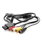 6ft AV TV S Video AV Kabel für Super Nintendo Gamecube 64 SNES NGC N64 Videospiele