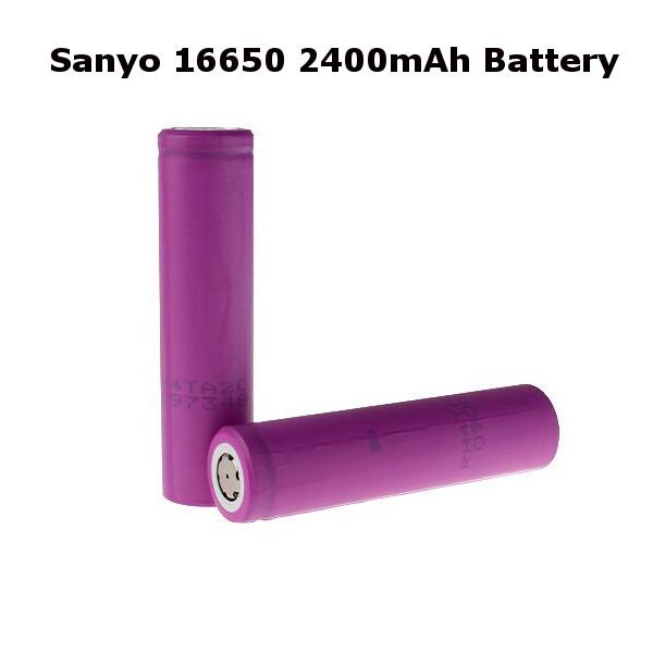 Äkta Sanyo 16650 3.7V 2400mAh Uppladdningsbart Li-Ion Batteri E-Cigaretter & Tillbehör