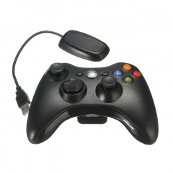 Black Wireless Game Remote Controller for Microsoft Xbox 360 Console