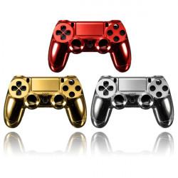 Förkromning Hölje Skal Delar Fodral för PS4 Kontroller Dualshock 4