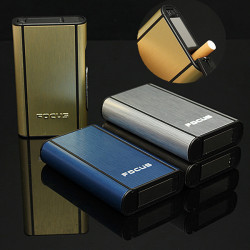 Fokus Automatisk Ejection Cigarette Case for 10 Cigaretter