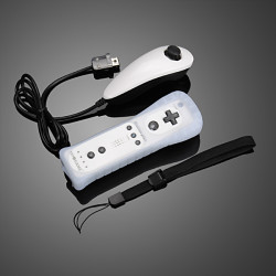 GOiGAME Nunchuck & Remote Controller Motion Plus for Nintendo Wii