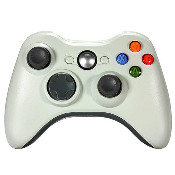 High Quality 2.4 GHz Trådløs Spil Controller Joypad til Xbox 360 White Videospil Tilbehør