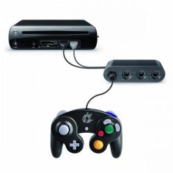 NY 4 Ports GameCube GC Controller Adapter Konverter til Wii U Sort