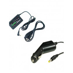 Power Adapter Charger & Car Charger Bundle For PSP Series