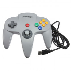 Retrolink N64 Style Classic Controller For PC & MAC USB Gray Color