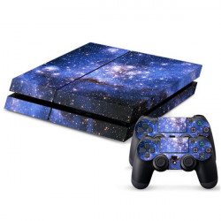 Sticker Skin For PS4 PlayStation 4 Console + 2Controller Cover (DEEP SPACE/ Blue Skull/ Joker/ Umbrella/ SKUNK WEED)
