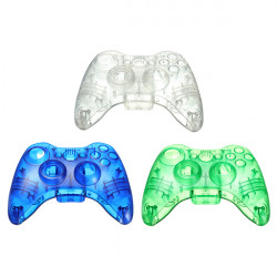 Gennemsigtighed Plast Shell til Xbox 360 Trådløs Controller