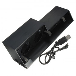 USB External Turbo Temperature Control Cooling 5 Fan Cooler For Playstation PS4