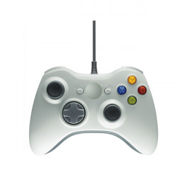 Vit Trådbunden Game Kontroller Joypad Joystick för Xbox 360 PC USB-port