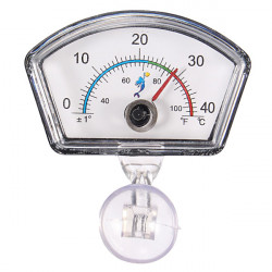 0 40 ℃ Aquarium Saugnapf Tauch ovale Form Dial Index Thermometer