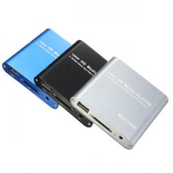 1080P Mini HDD Media Player MKV / H.264 / RMVB Full HD med HOST USB / SD-kortläsare