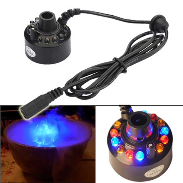 12-LED Ultrasonic Mist Maker Fogger Water Fountain Pond Electronic Accessories & Gadgets
