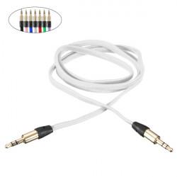 1M 3.5mm Flätad Guld AUX Hane till Hane Stereo Ljudkabel för MP3 PC iPod Bil Mobile
