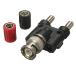 1Pcs BNC Male Plug To Two Dual Banana Jack RF Adapter Connector Plug & Adaptors