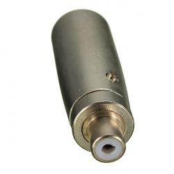 1st Silver Metall XLR Hane 3-Pin till RCA Hona Jack Adapter Kontakt