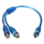 1 RCA Male To 2 Female Splitter Audio Stereo Cable-Car Y Adapter Media Players
