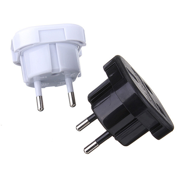 2 Pin Universal UK To EU Travel Plug Power Charger Adapter Converter Socket Plug & Adaptors