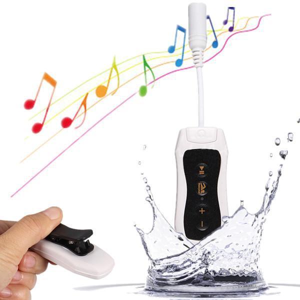 4GB wasserdichte Clip HIFI MP3 Player Sport Schwimmen Tauchen FM Radio + Kopfhörer Media Player