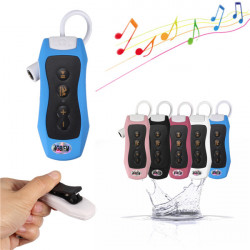 4GB Waterproof Clip MP3 Music Player FM Radio Underwater Sports Swimming Diving