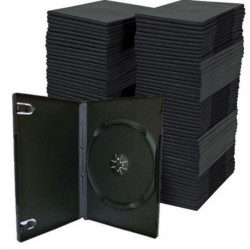 50Pcs Single Black 14mm Standard CD DVD Bluray Cases Storage Sleeves