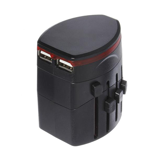 5 i 1 World Travel USB Power Adapter Plugg Certifiering CE FCC Kontakter & Adaptrar