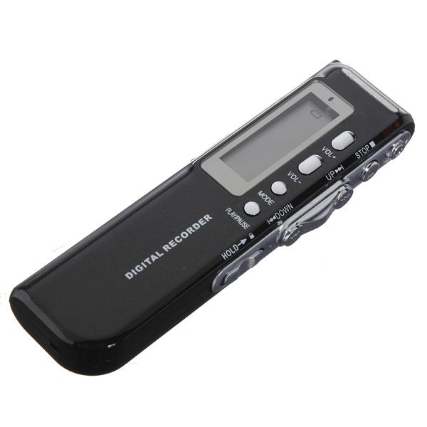 8GB 650Hr USB Digital Audio Telefon Diktafon Diktafon Mp3-Spelare Svart Mediaspelare