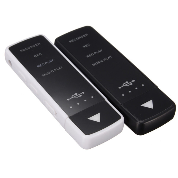 8GB LED Rechargeable Digital Audio Voice Recorder With Flash U Disk USB MP3 Player Media Players