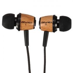 AWEI Q9 Super Bass Wooden Headphones Earphones Headset