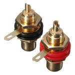 Audio Binding Post Gold-Plated RCA Chassis Panel Sockets Connectors Plug & Adaptors
