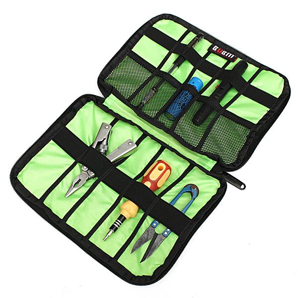 BUBM Multifunktionelle Vandtæt 6 Farver Beskyt Bag Case for Kabler Pen Batterier Øretelefon Små Værktøj USB Blitz Drive Medieafspillere