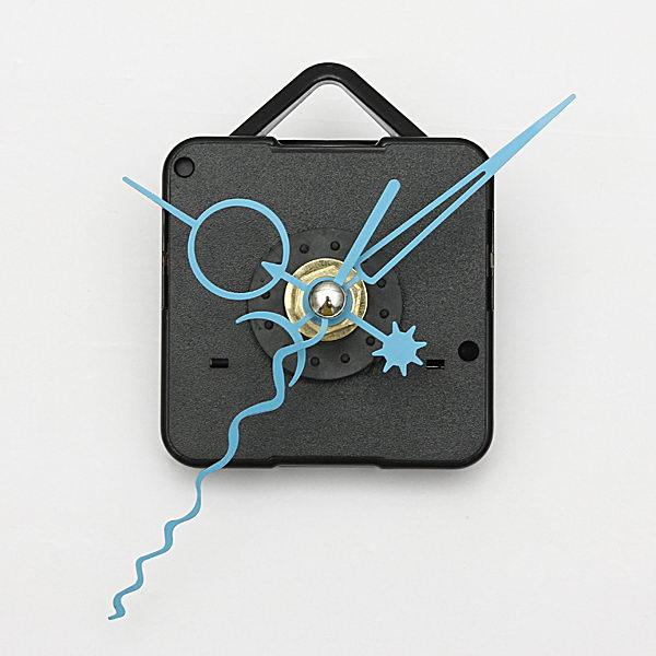 Blue Hands DIY Quartz Black Wall Clock Spindle Movement Mechanism Electronic Accessories & Gadgets