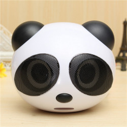 Netter Panda Form tragbare Stereolautsprecher für Desktop Laptop Notebook Handy