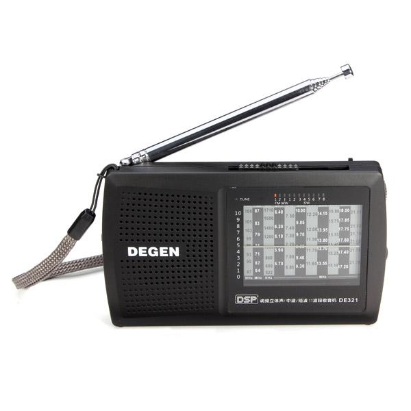 DEGEN DE321 FM Stereo MW Schalter Radio DSP Weltempfänger Media Player