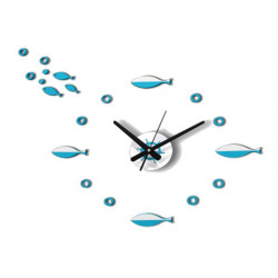 DIY 3D Fish Composite Funny Wall Clock 3 Colors