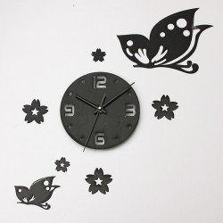 DIY Black Butterfly 3D Home Modern Decoration Living Room Wall Clock