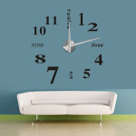DIY Black Large 3D Home Decorative EVA Sticker Creative Wall Clock Electronic Accessories & Gadgets