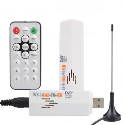 DVB-T USB 2.0 Mini Digital TV SDR FM And DAB Radio Tuner Receiver With Remote Control / Antenna