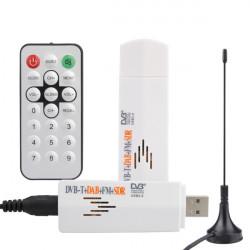 DVB-T USB 2.0 Mini Digital TV SDR FM Og DAB-radio Tuner Receiver med Fjernbetjening / Antenne