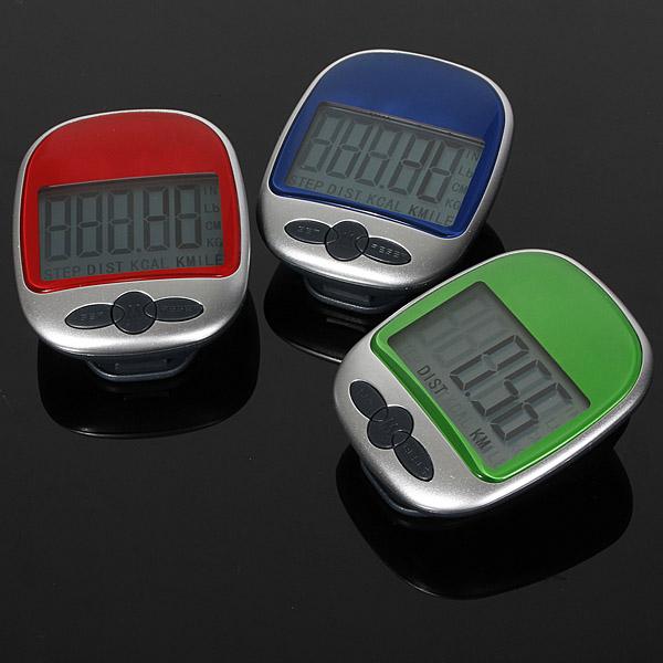 Digital LCD Pedometer Entfernung gehenden Kalorie Gegentaschenclip Elektronischer Zubehör & Geräte