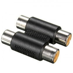 Double Head RCA Female Type To Female Connector Audio Video Adaptor Phono Coupler